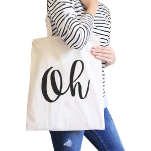 Oh Natural Canvas Bag Cute Calligraphy Eco Bags Gift For Students - 365INLOVE