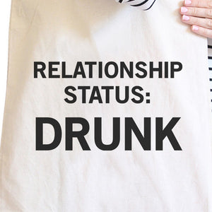 Relationship Status Funny Graphic Canvas Bag Witty Quote Tote - 365INLOVE