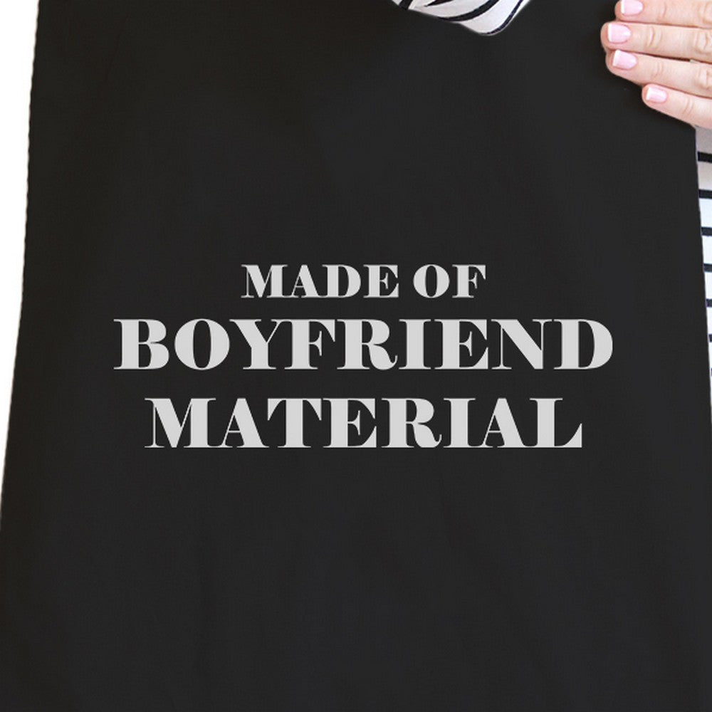 Boyfriend Material Black Canvas Tote Cute Gift
