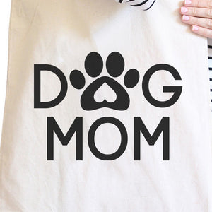 Dog Mom Natural Cute Canvas Shoulder Bag Cute Design For Dog Owners - 365INLOVE
