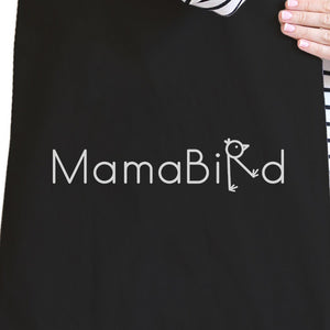 MamaBird Black Canvas Bag Lovely Design Unique Gift Ideas For Moms - 365INLOVE