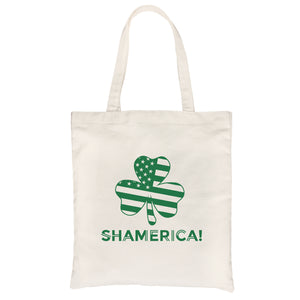 Shamerica Flag Canvas Shoulder Bag