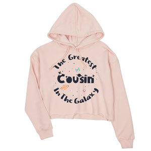 The Greatest Cousin Womens Cute Crop Hoodie Gift For Cousin