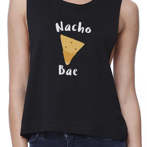 Nocho Bae Women's Black Crop Tee Cute Graphic Shirt For Food Lovers - 365INLOVE