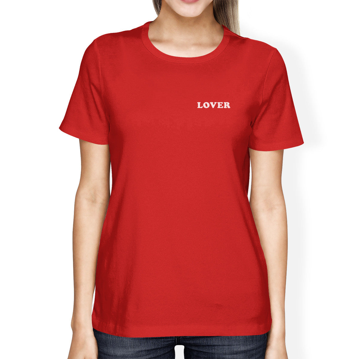 72c92abb1 Lover Women's Red T-shirt Cute Graphic Tee Gift Ideas For Birthdays ...