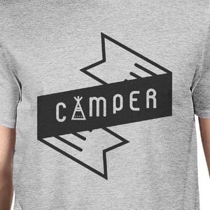 Camper Men's Gray Cotton TShirt Trendy Design Earth Day Special Tee - 365INLOVE