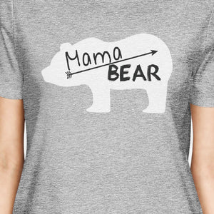 Mama Bear Women's Gray Graphic T Shirt Gift Ideas For Mothers Day - 365INLOVE
