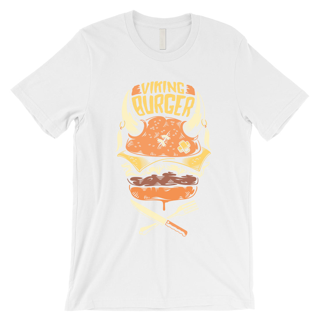 522051f2 Viking Burger Mens Unique Vintage Style T-Shirt For Burger Lovers