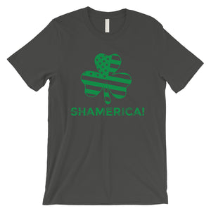 Shamerica Flag Mens Tee Gag St. Patrick's Day T-Shirt Gift For Him