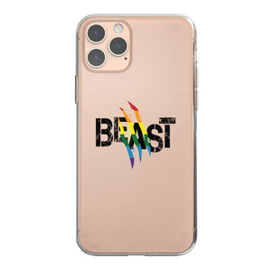 LGBT Beast Rainbow Scratch Clear Phone Case