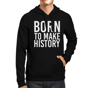 Born To Make history Black Hoodie Pullover Fleece Yuri on Ice - 365INLOVE