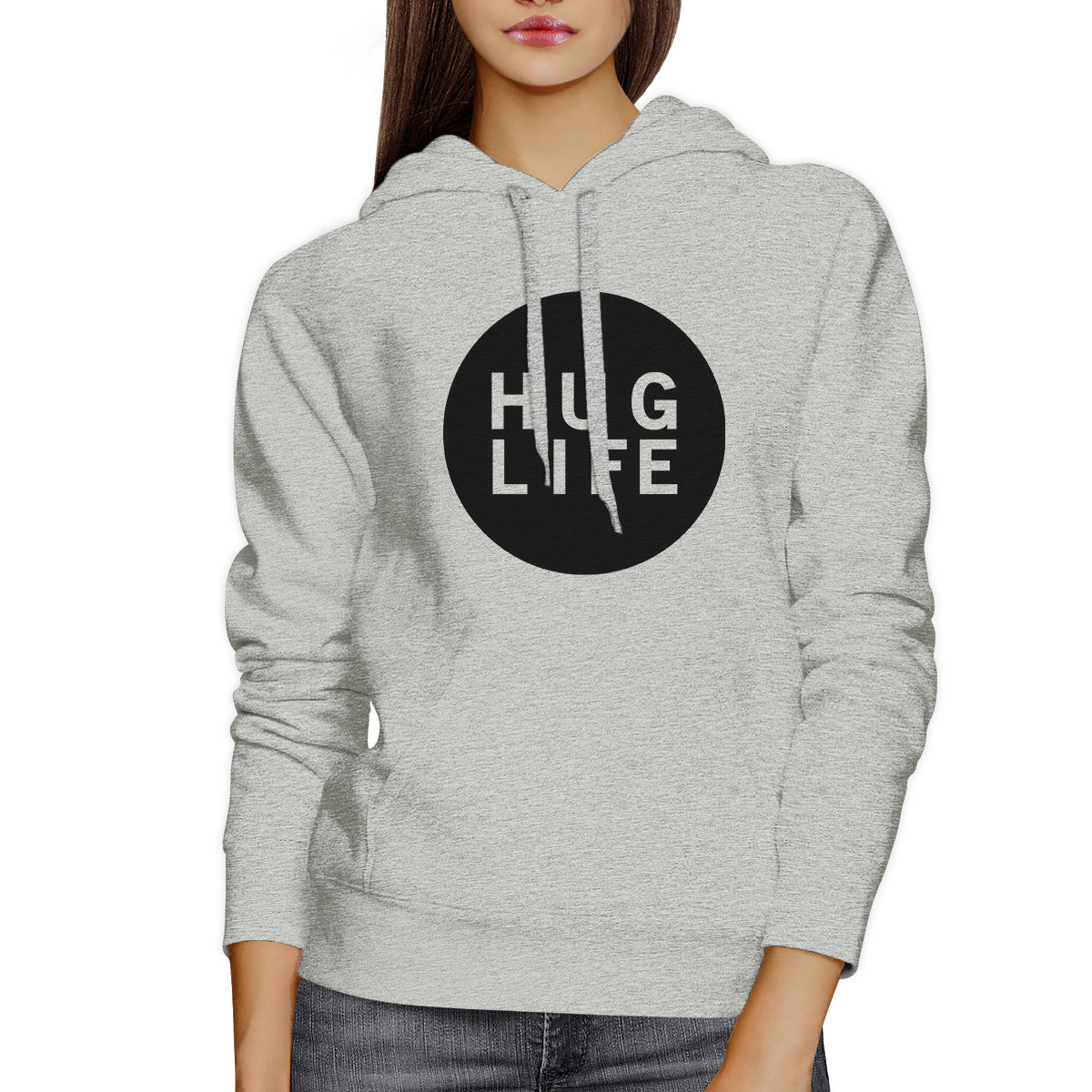 hug life unisex grey hoodie simple design life quote gift ideas 365inlove - Hoodie Design Ideas