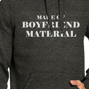 Boyfriend Material Unisex Dark Grey Graphic Hoodie Cute Design - 365INLOVE