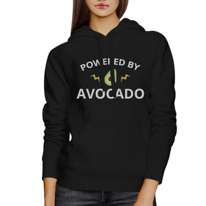 Powered By Avocado Unisex Black Pullover Fleece Cute Design Fleece - 365INLOVE