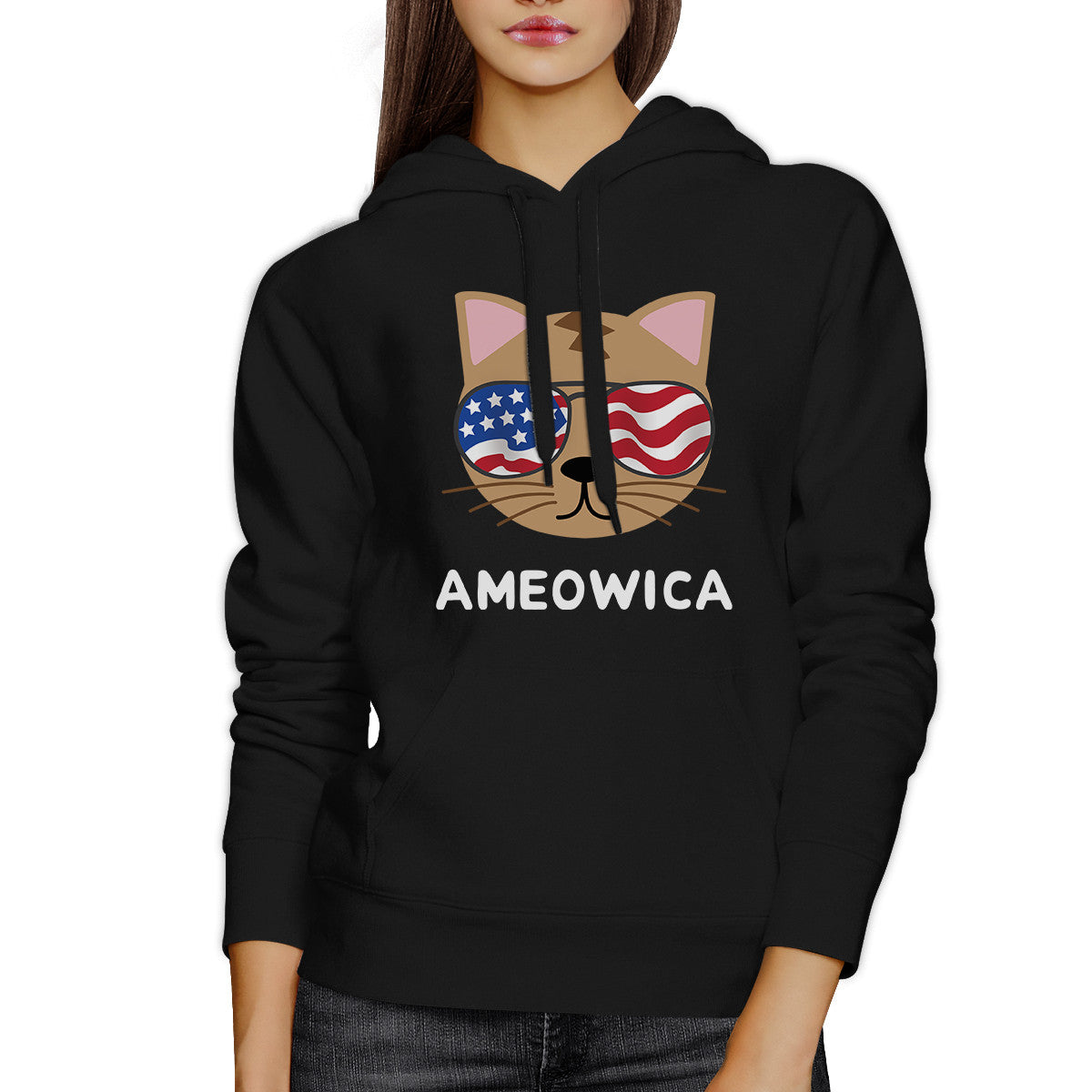 ameowica unisex black funny design hoodie gift ideas - Hoodie Design Ideas
