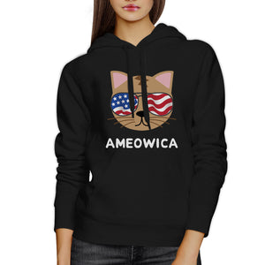 Ameowica Unisex Black Funny Design Hoodie Gift Ideas For Cat Lovers - 365INLOVE