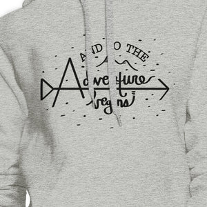 And So The Adventure Begins Grey Hoodie