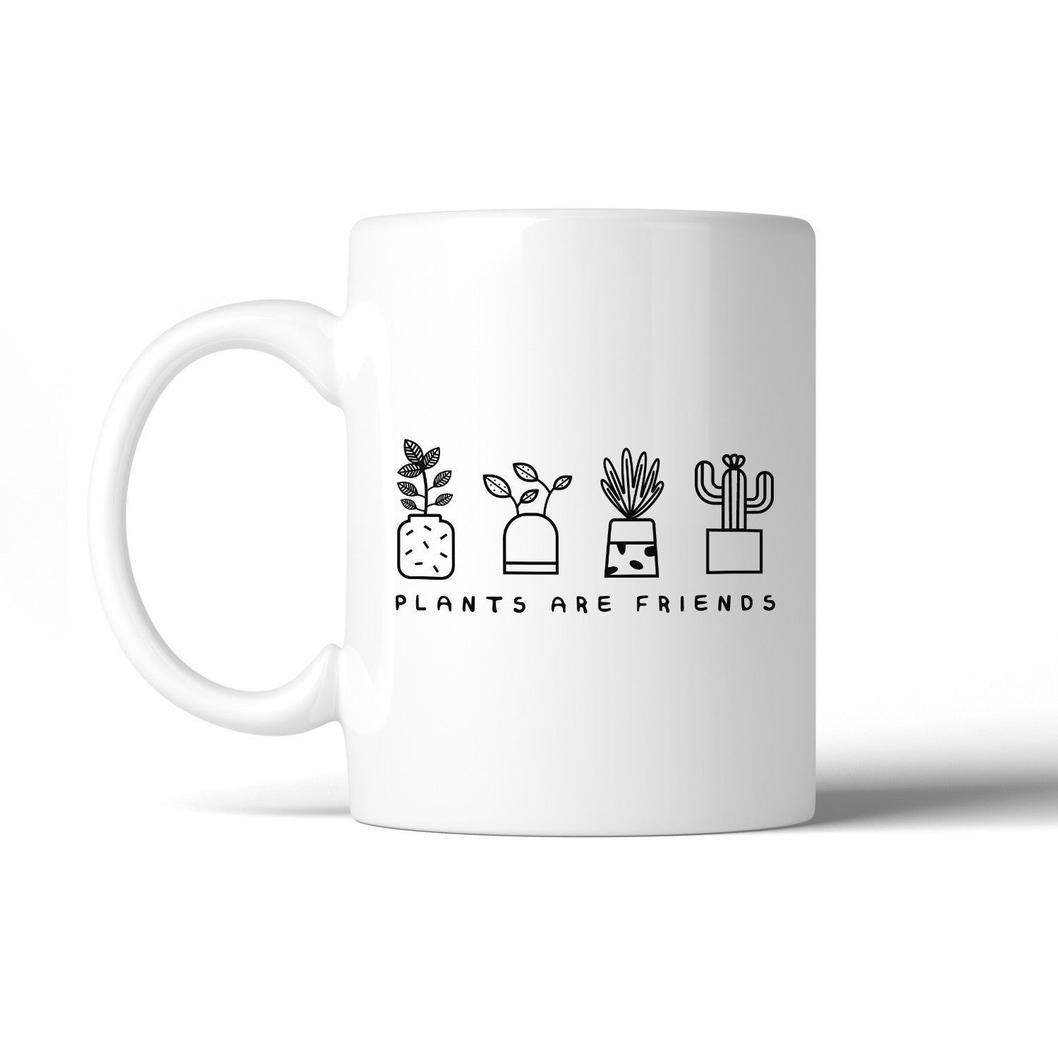 Plants Are Friends Cute Design Coffee Mug Gift Idea For Plant Lover ...