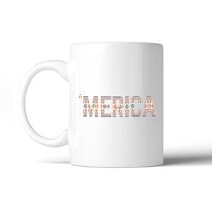 'Merica Cute Design Coffee Mug Unique Tribal Pattern Mug Gift Idea - 365INLOVE