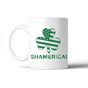 Shamerica Flag 11 Oz Ceramic Coffee Mug St Patrick's Day Irish Gift