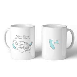 Love From States Unique Customized Coffee Mug Personalized Gifts - 365INLOVE