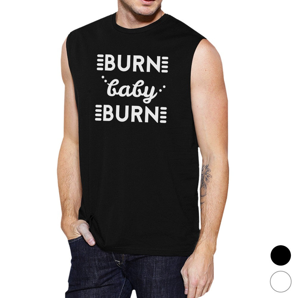 b6da9a7d Burn Baby Mens Funny Muscle Tank Top Fitness Muscle Shirt Gifts ...