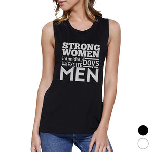 Strong Women Womens Cotton Gym Tank Top Muscle Shirt Graphic Tanks