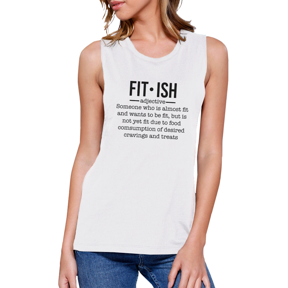 3b2734381 Fit-ish Womens Funny Work Out Muscle Tank Top Muscle Shirt For Gym ...