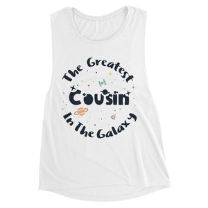 The Greatest Cousin Womens Cute Workout Muscle Top Gift For Cousin