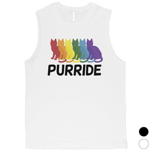 LGBT Purride Rainbow Cats Mens Muscle Top