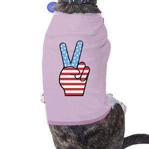 Peace Sign American Flag Pink Fourth Of July Dog Shirt Gift Ideas - 365INLOVE