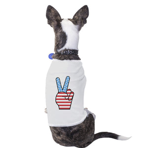 Cute American Flag Pet T Shirt Unique Patriotic Gifts For Veterans - 365INLOVE