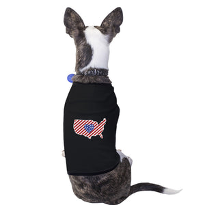 USA Map American Flag Pet Shirt For Small Dogs 4th Of July Gifts - 365INLOVE