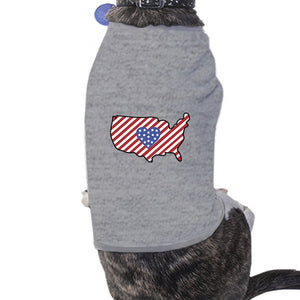 American Flag Pattern USA Map Small Dog Shirt For Independence Day - 365INLOVE