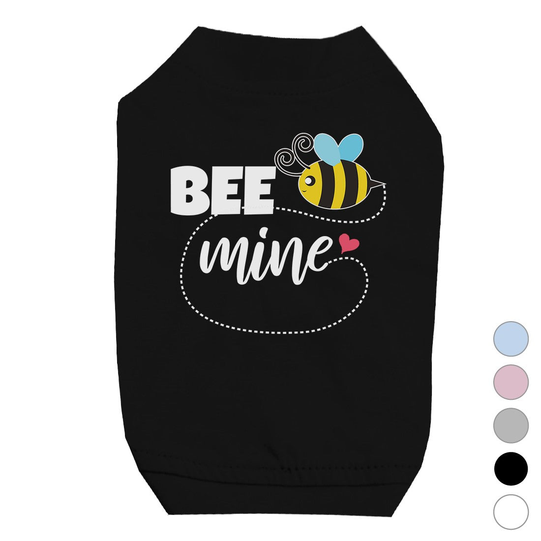 Bee Mine Cute Graphic Pet T Shirt For Small Dogs Birthday Gifts