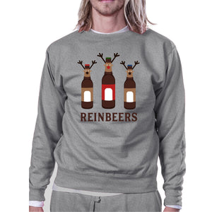 ReinBeers Sweatshirt Funny Holiday Gifts Pullover Fleece Sweater - 365INLOVE