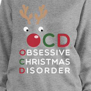 OCD Obsessive Christmas Disorder Sweatshirt Pullover Fleece Sweater - 365INLOVE