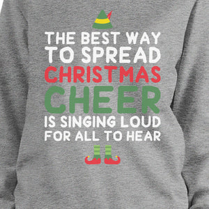Best Way To Spread Christmas Cheer Sweatshirt Cute Fleece Sweater - 365INLOVE