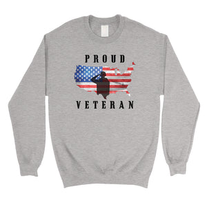 Proud Veteran Sweatshirt Unisex Round Neck US Army Gift Sweatshirt