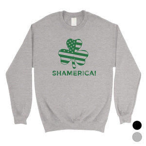 Shamerica Flag Unisex Saint Patrick's Day Sweatshirt Gag Irish Gift