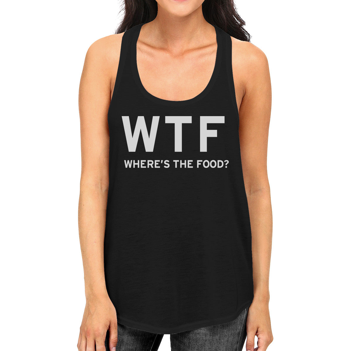 676606d24 Where's The Food Tank Top Work Out Shirt Funny Gym Racerback - 365 ...