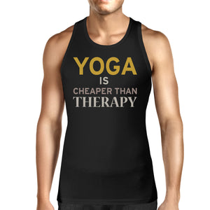 Yoga Is Cheaper Than Therapy Unisex Tank Top Yogi Sleeveless Shirt - 365INLOVE
