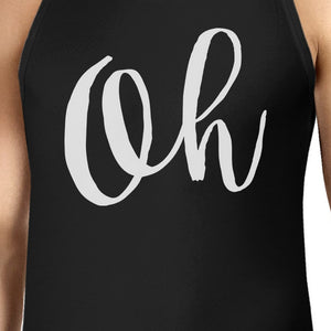 Oh Mens Typography Calligraphy Funny Sleeveless Black Tank Top - 365INLOVE