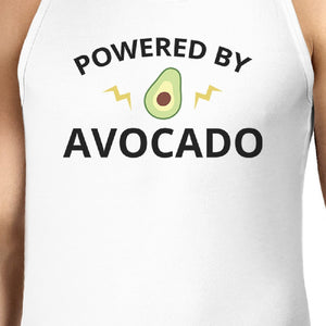 Powered By Avocado Men's White Tank Top Gift For For Avocado Lovers - 365INLOVE