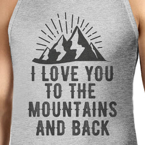 Mountain And Back Mens Gray Sleeveless Tee Great Summer Coupl Shirt - 365INLOVE