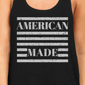American Made Funny Women Black Sleeveless Top For Independence Day - 365INLOVE