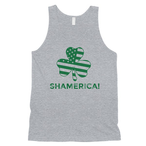 Shamerica Flag Mens Funny St Paddy's Day Tank Top For Gym Workout