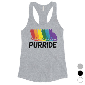 LGBT Purride Rainbow Cats Womens Tank Top