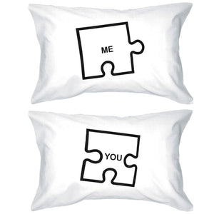 Funny Graphic Pillowcases Standard Size 20 x 31 - Puzzle Design Me and You - 365INLOVE