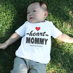 Graphic Snap-on Style Baby Tee, Infant Tee - I Heart Mommy - 365INLOVE